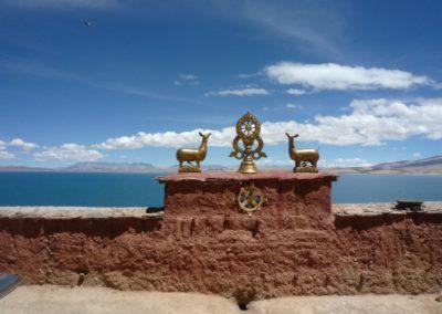 Ausblick von Gompa auf Manasarovarsee