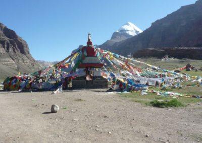Chörten - Eintritt zum großen Gebiet und Beginn der Kora Pilgerwanderung um den Mt. Kailash