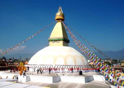 Stupa von Boudhanath (Bodnath) Kathmandu